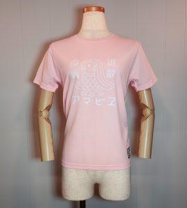 Tシャツ「アマビエ」レディースピンク