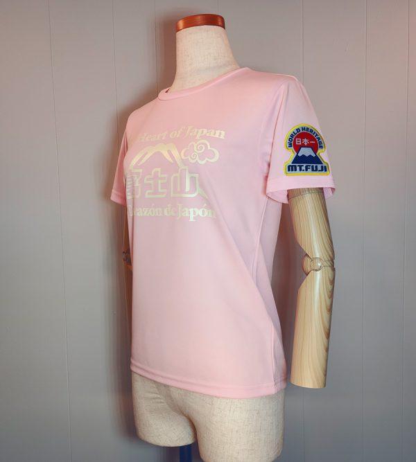 Tシャツ「The Heart of Japan」レディースピンク