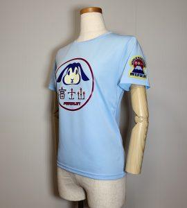 Tシャツ「富士うさぎ」レディースブルー