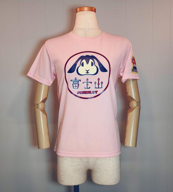 Tシャツ「富士うさぎ」レディースピンク